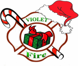 Violet fire department holiday logo