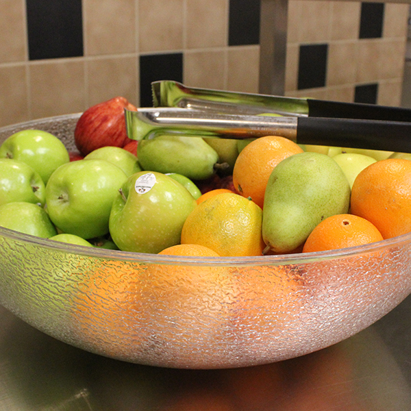 Image of fruit served in the cafeteria