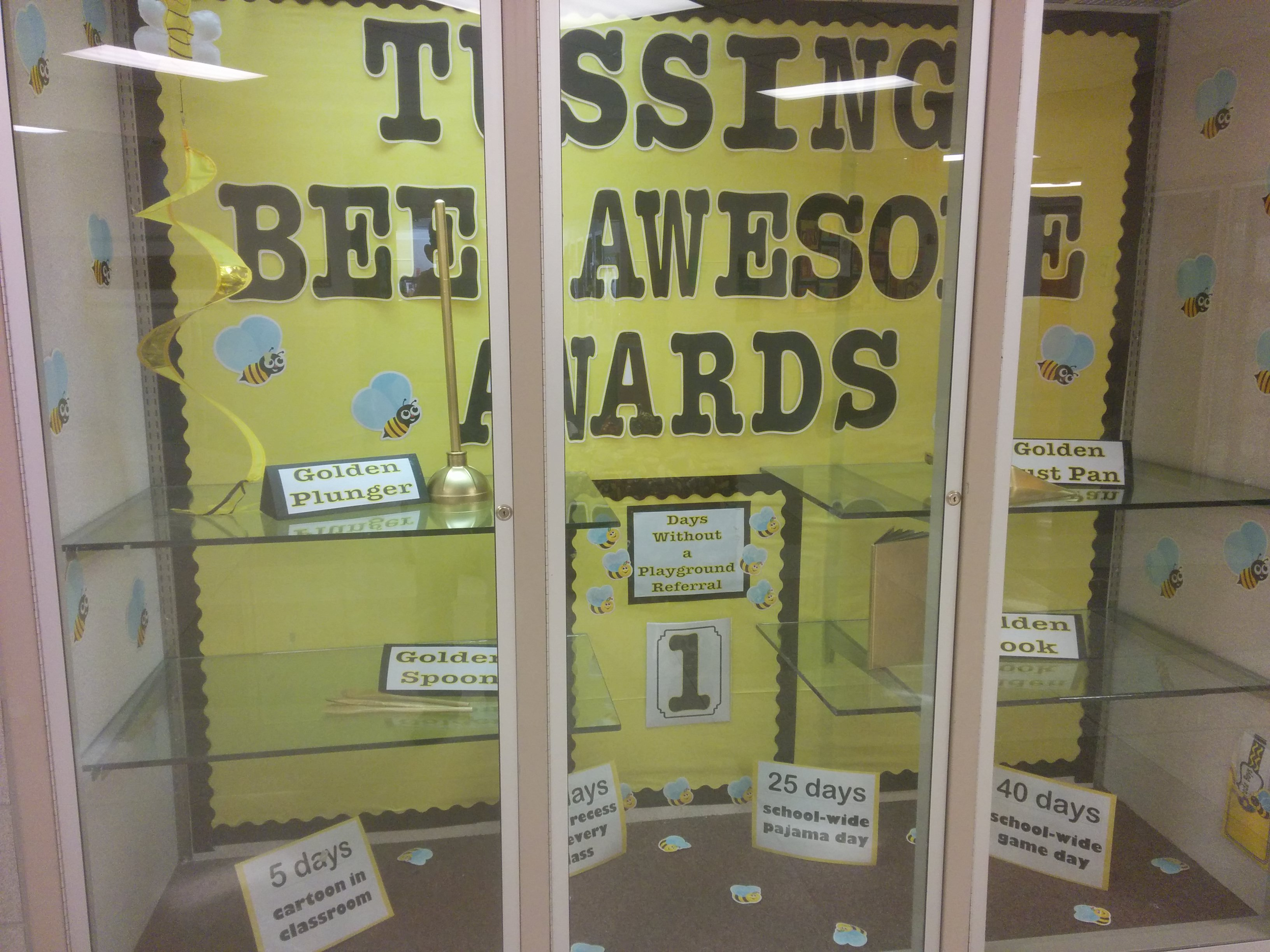 Picture of a Bee Awesome Award display case
