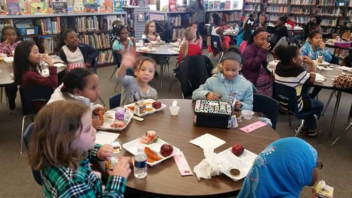 Picture of students attending a Ladies' Luncheon