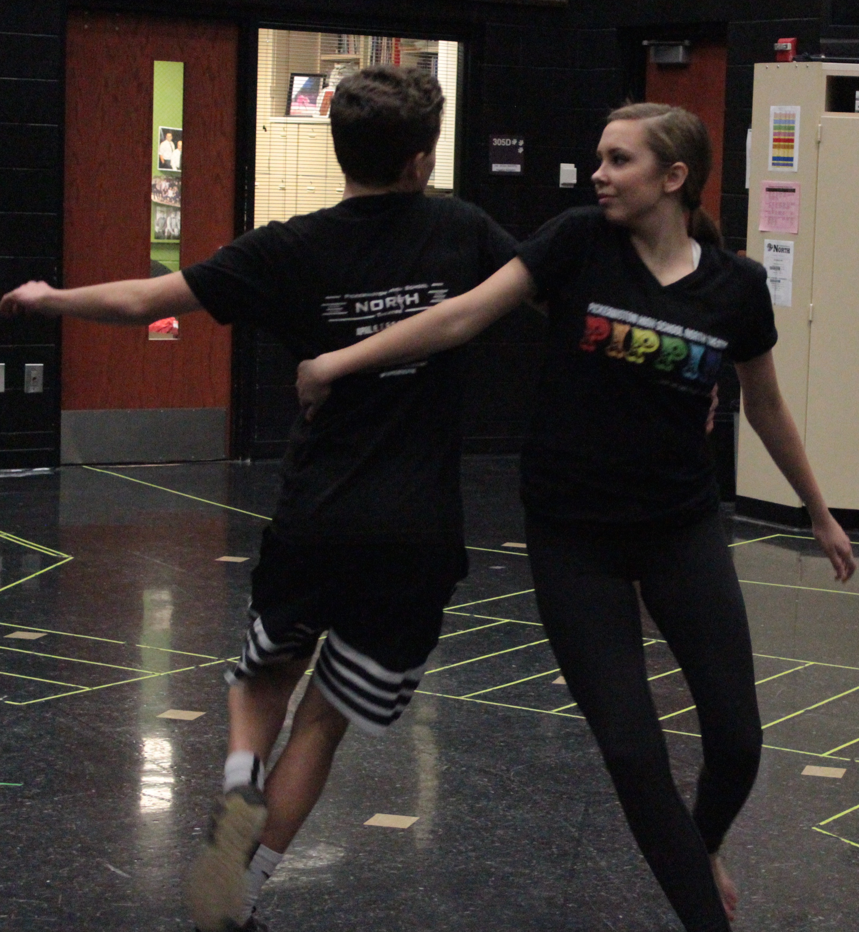 Two PHSN Students dancing for Pippin