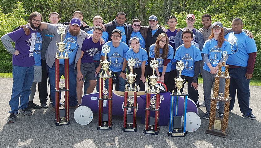 Picture of Tiger Tech Racing Team with trophies