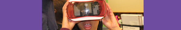 Image of student with virtual reality goggles