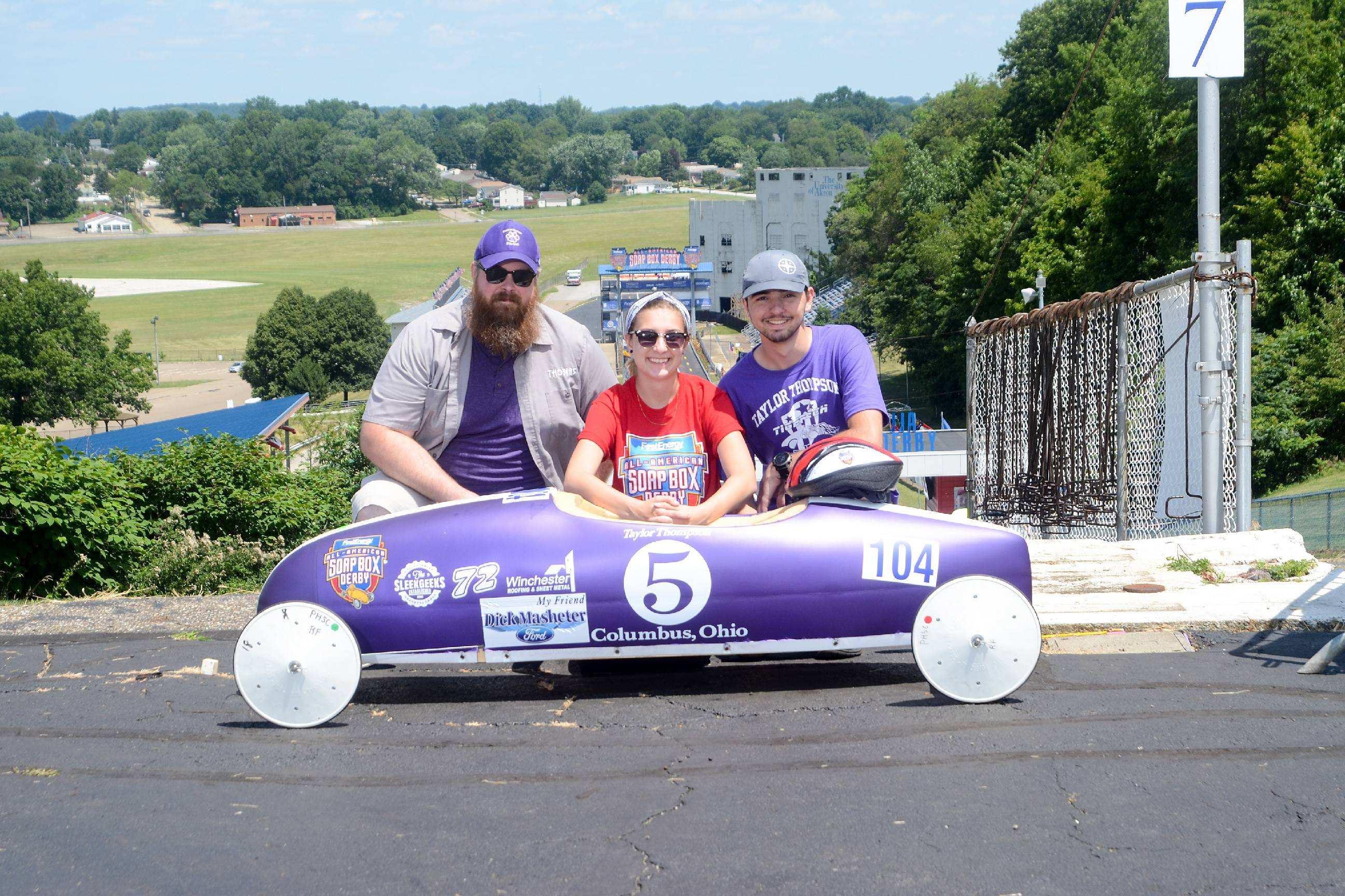 Picture of the Tiger Tech Soap Box Derby racing team