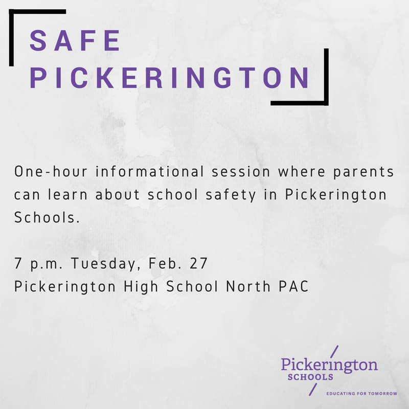 Safet Pickerington Info, February 27, 7 p.m., North PAC