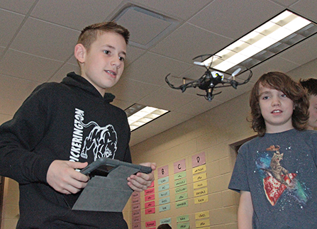 Toll Gate students learn basic coding using drones