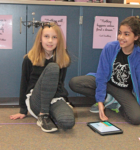 Students at Toll Gate MS learn coding basics using drones