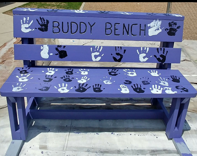 the completed buddy bench