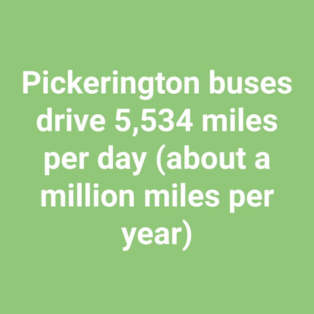 Our buses drive 5,534 miles per day