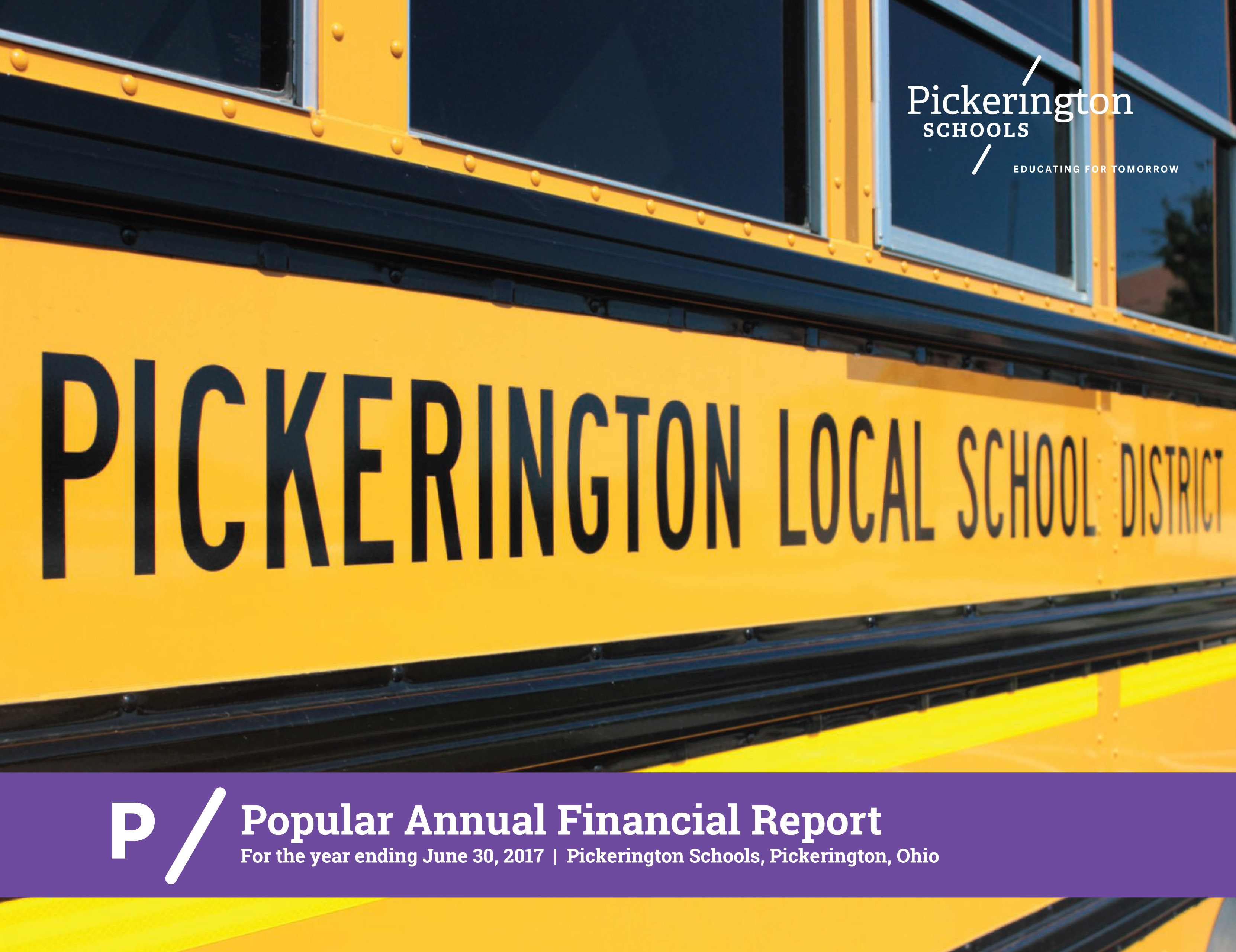 Cover of the Popular Annual Financial Report