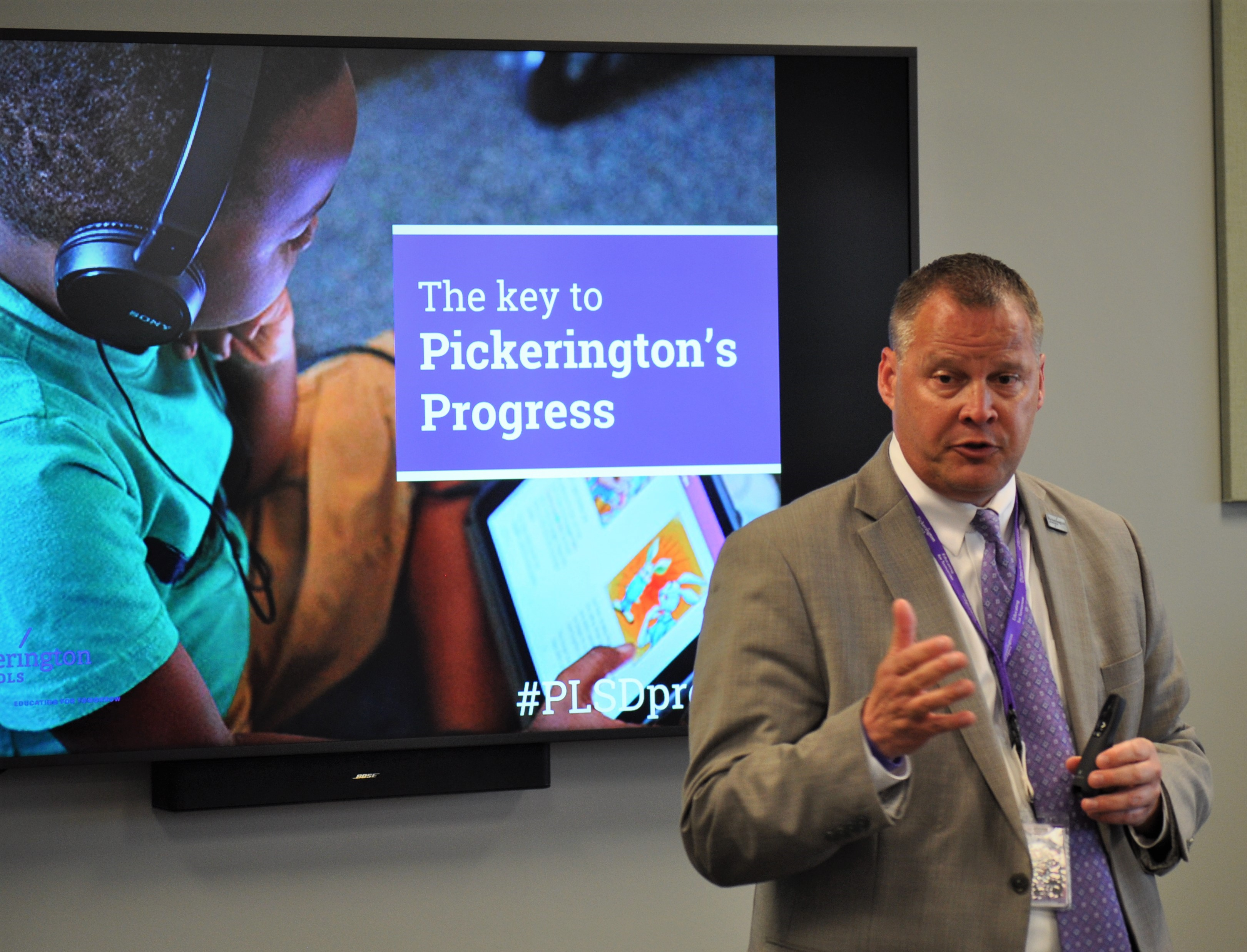 Dr. Briggs presents the Plan for Progress vision