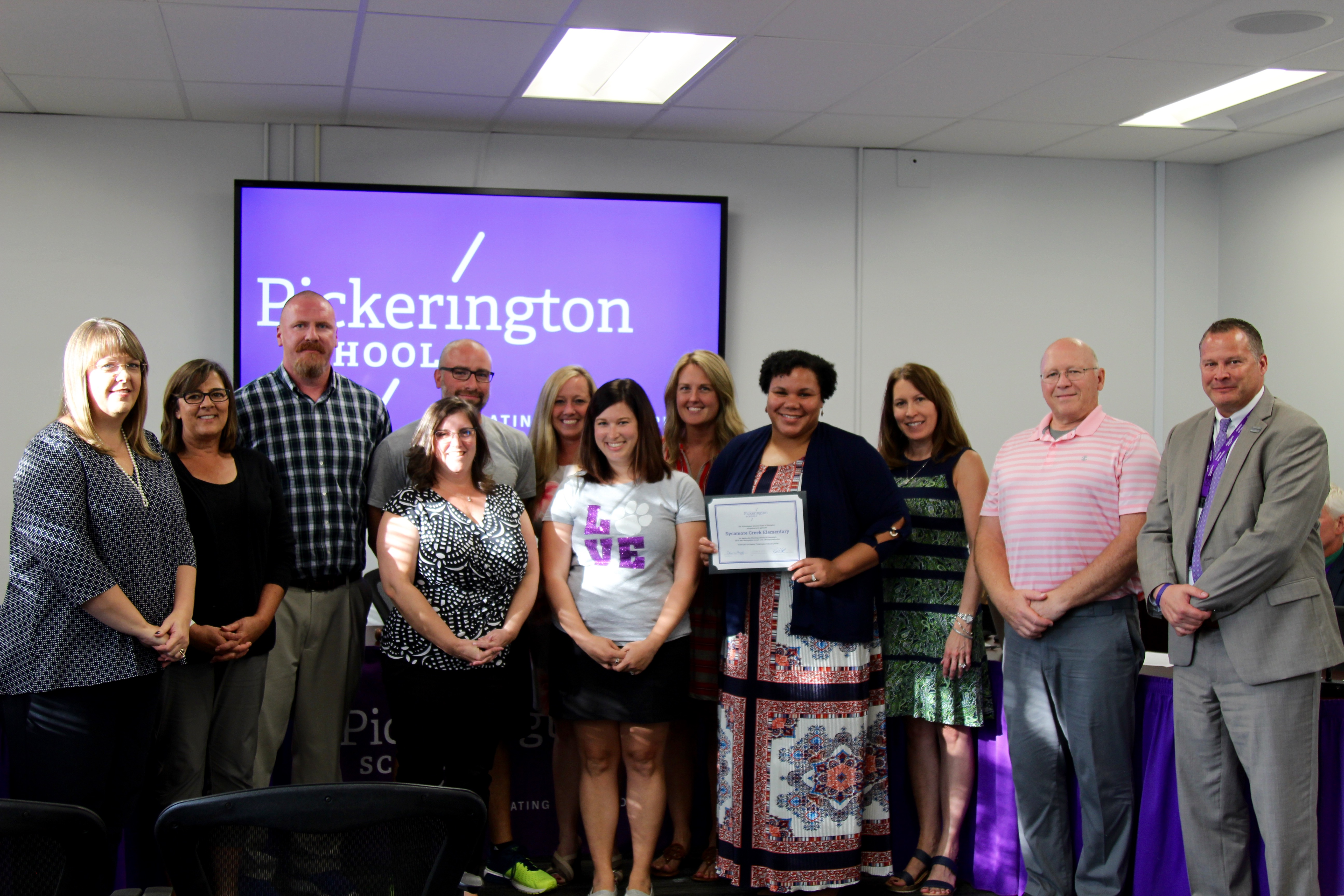Sycamore Creek Elementary PBIS committee is recognized for bronze state recognition