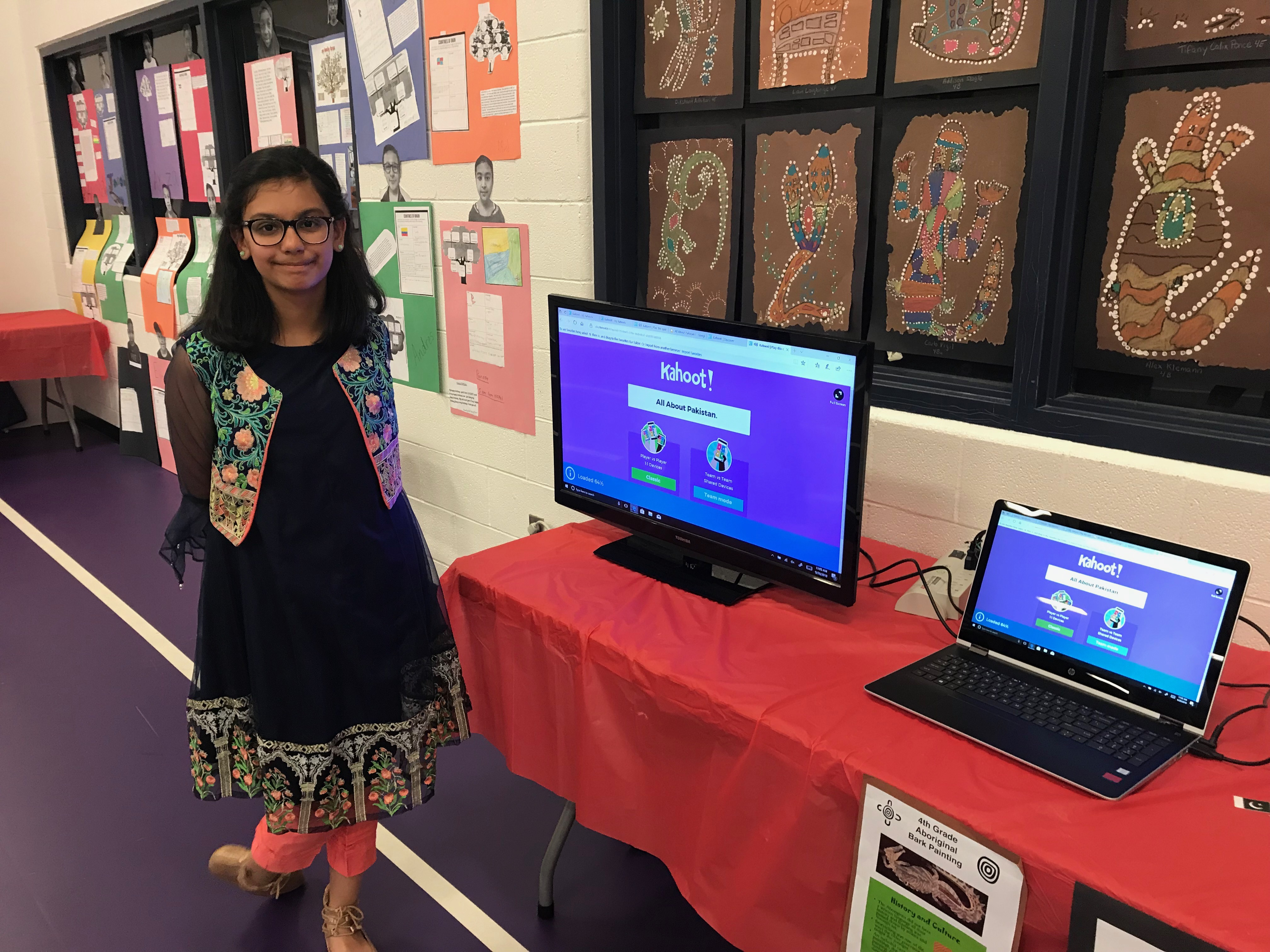 Rida Ali and her Kahoot Presentation