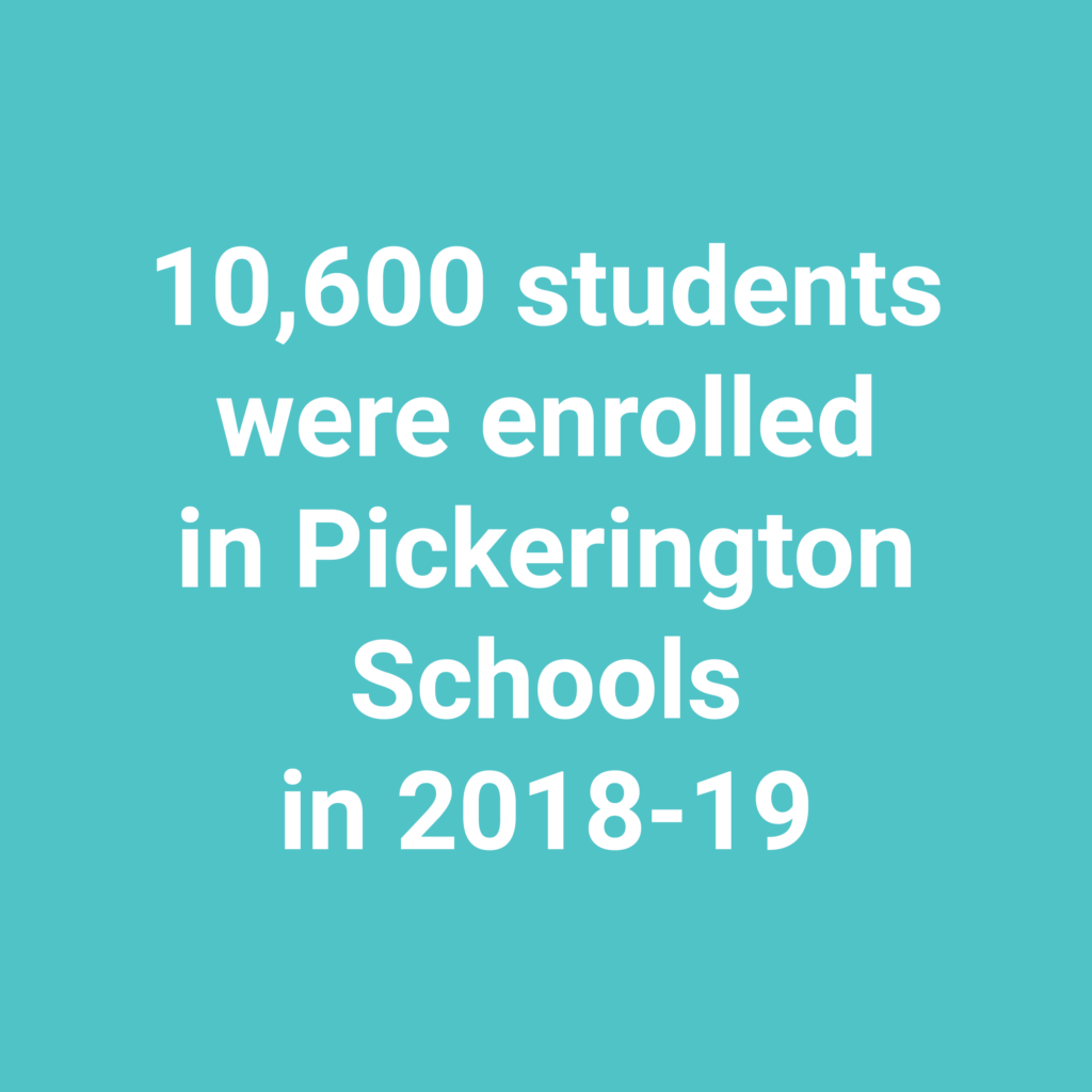 10,600 students were enrolled in Pickerington Schools in 2018-19