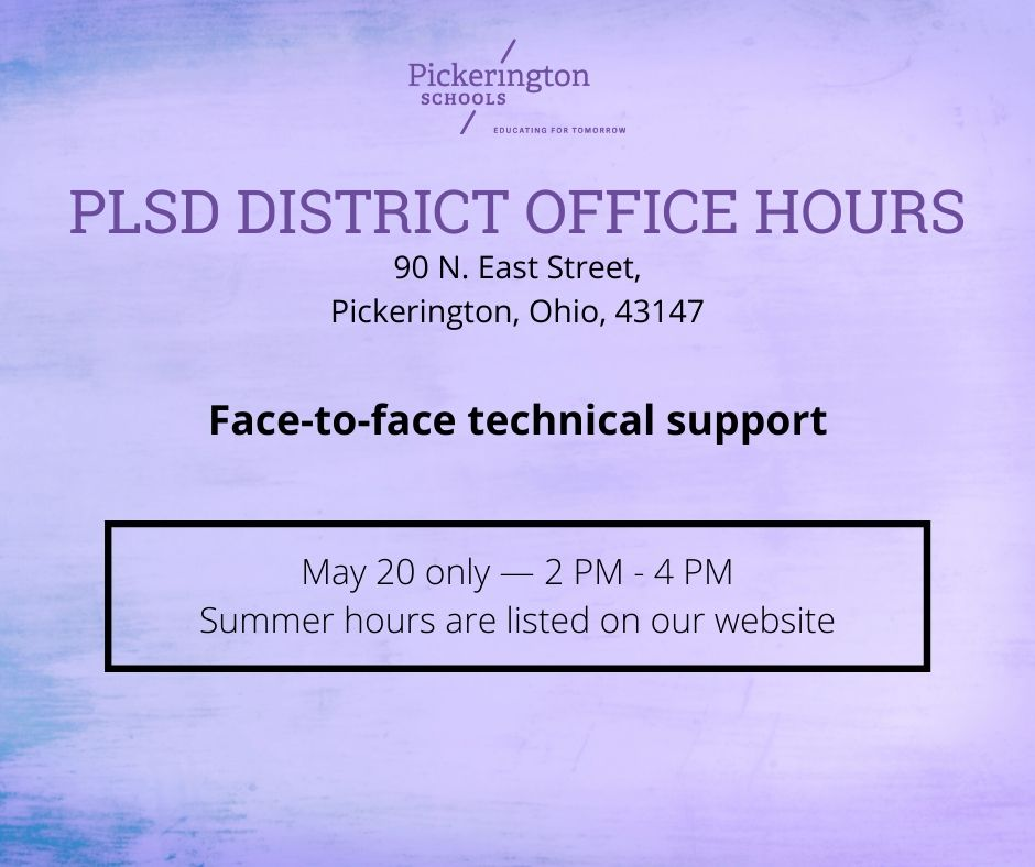 PLSD District Office Hours image