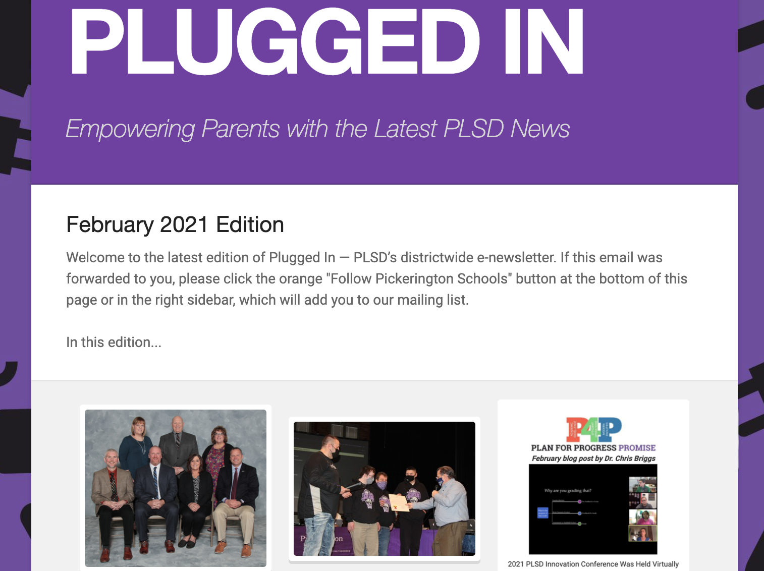 Feb. Plugged In Newsletter image