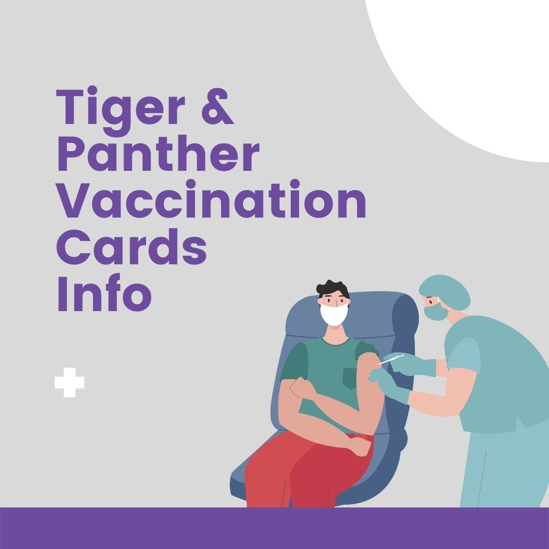 Tiger & Panther Vaccination Cards info image