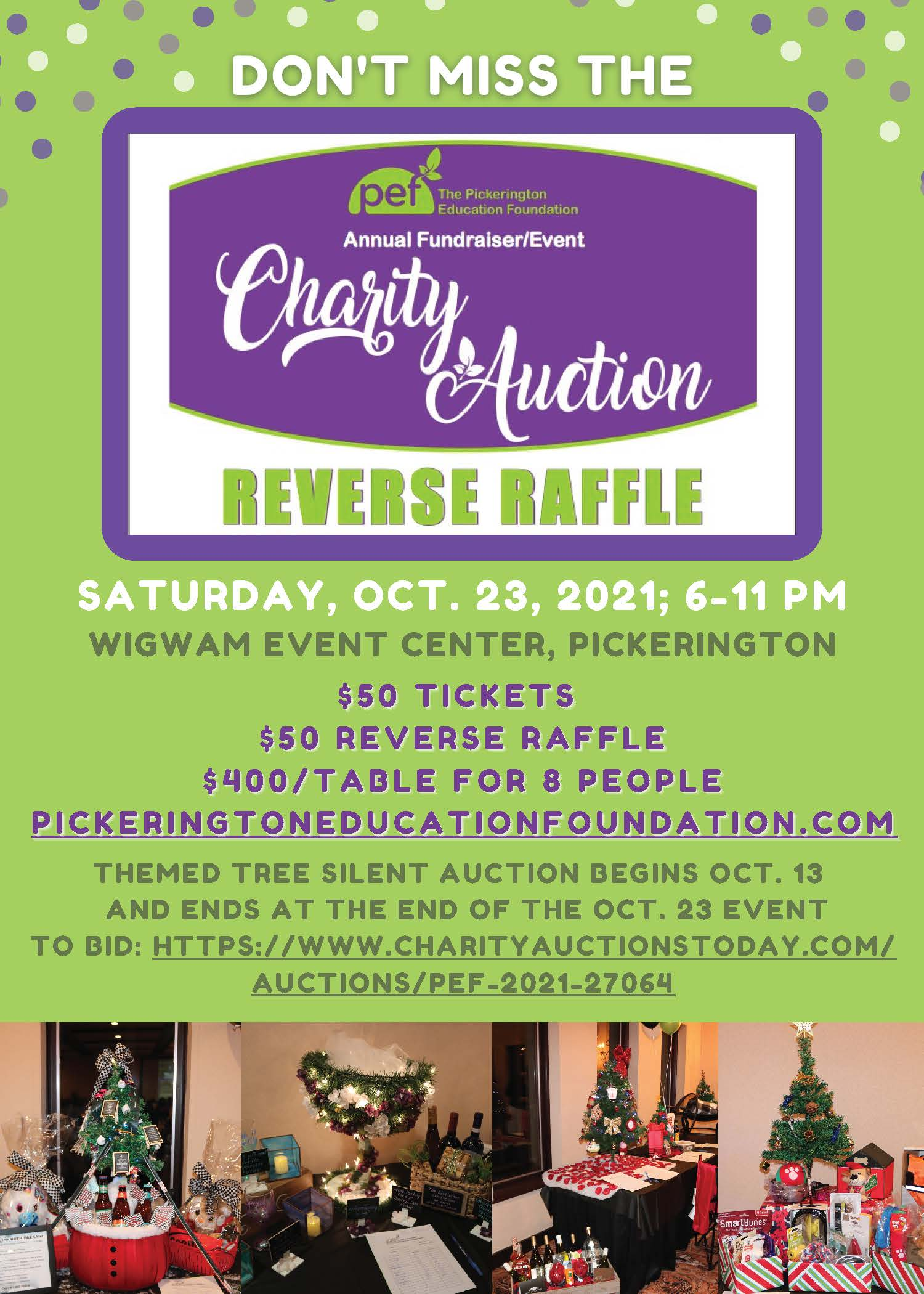 PEF Charity Auction flyer image