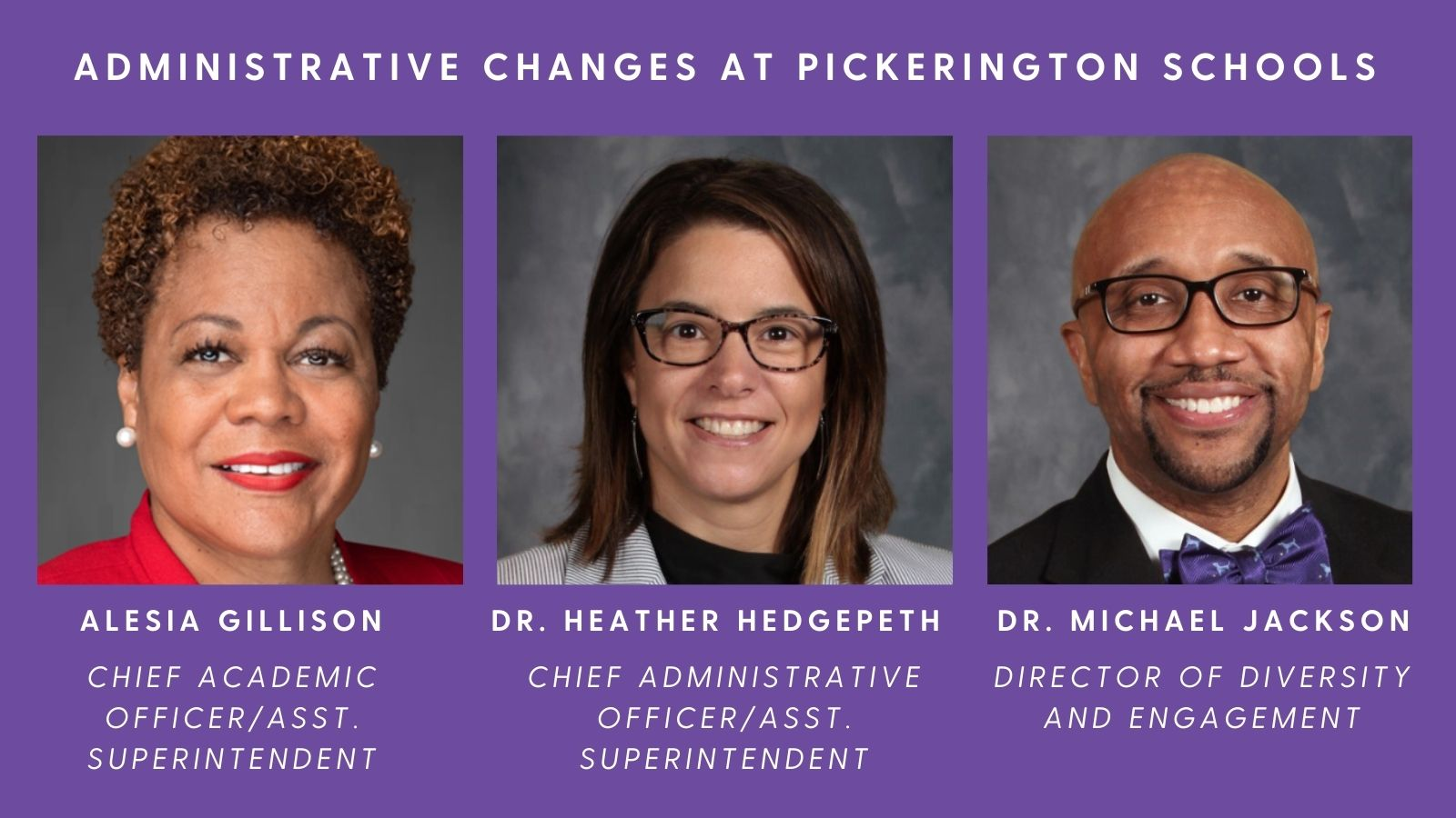 Administrative Team Changes image